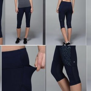 Lululemon stash it Crop Leggings Size 6